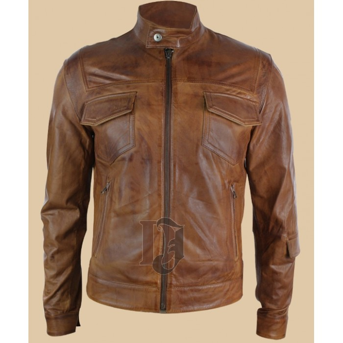 b68cb8ce690 Men Vintage Brown Distressed Leather Jackets In USA