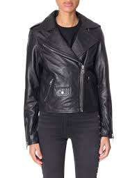calvin klein leather jackets women